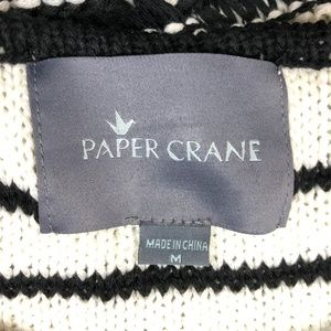 Anthropologie Sweaters - Anthropologie Paper Crane Striped Lace Up Sweater